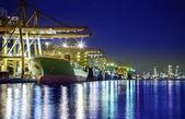 контейнерных грузов грузовое судно — Стоковое фото