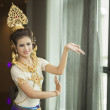 Stock Photo: Unidentified Thai dancer performs at Thailand Arts and Cu
