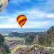 Lanscape of mountain and balloon — Stock Photo