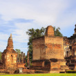 Stock Photo: main buddha statue in sukhothai historical park