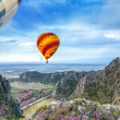 Stock Photo: Lanscape of mountain and balloon