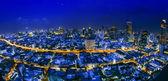 Vista de noite de cidade de banguecoque — Foto Stock