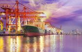 Nave de carga de carga de contenedor — Foto de Stock