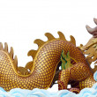 Stock Photo: Big golden dragon