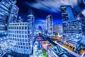 Vista de noche de la ciudad de Bangkok — Foto de Stock