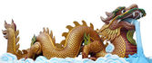 The big golden dragon — Stock Photo