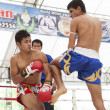 Thai boxing match - Stock Photo