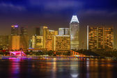 Landscaoe of Singapore business district — Stock Photo