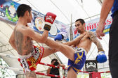 Thai boxing match — Stock Photo