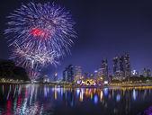 City town at night, Bangkok, Thailand — Stock Photo
