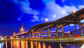 Bhumibol bridge in Bangkok — Stock Photo