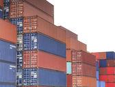 Cargo fracht containerschiff — Stockfoto