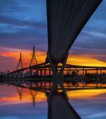 Bhumibol Bridge in Thailand — Stock Photo