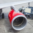 Stock Photo: Turbine of airplane