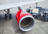 Turbine of airplane — Stock Photo