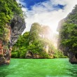 Cave rocks on railay beach — Stock Photo #27282769