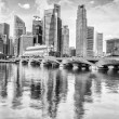 Singapore financial district — Stock Photo