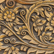 Pattern of flower carved — Foto de Stock