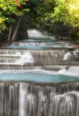 Level four of Huai Mae Kamin Waterfall — Stock Photo