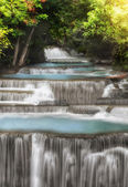 Level four of Huai Mae Kamin Waterfall — Stock Photo