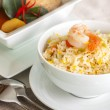 Shrimp fried rice and Beef or chicken mussaman curry — Stock Photo