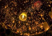 Thai people floating lamp — Stock Photo