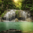 Second level of Erawan Waterfal — Stock Photo