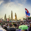 Thailand's protest at Democracy Monument against the government — Stock Photo