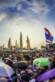 Thailand's protest tegen democratie monument tegen de regering — Zdjęcie stockowe