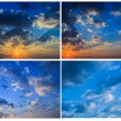 Sky with clouds and sun — Stock fotografie