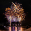 Stock Photo: Fireworks at Pattaybeach, Thailand