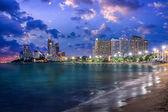 Pattaya City and Sea in Twilight, Thailand — Stock Photo