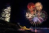 Fireworks at Pattaya beach, Thailand — Stock Photo