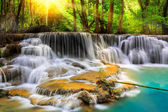 Erawan Waterfall in Kanchanaburi Province — Stock Photo
