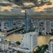 Stock Photo: Bangkok city at dusk