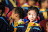 Achievement of degree for young babay — Stock Photo