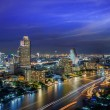 Stock Photo: Bangkok City at night time