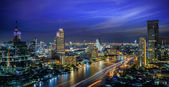Bangkok City at night time — Stock Photo