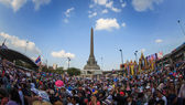 Million of protesters walked for anti government corruption (Pri — Stock Photo