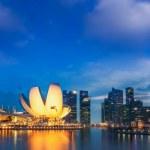 Landscape of Singapore city — Stock Photo
