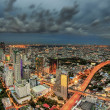 Stock Photo: Bangkok city at dusk and transportation