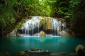 Level two of Erawan Waterfall — Stock Photo