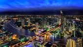 Bangkok city at dusk — Stock Photo