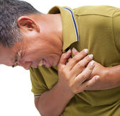 Man having a heart attack — Stock Photo