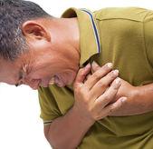 Homem tendo um ataque cardíaco — Fotografia Stock