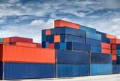 Stack of Cargo Containers  — Foto de Stock