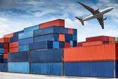 Stack of Cargo Containers — Stock Photo
