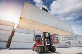 Kran-lifter, die handhabung im container — Stockfoto