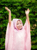 Little girl in raincoat  — Stock Photo