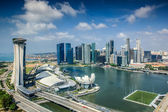 Landscape of Singapore city — Stockfoto